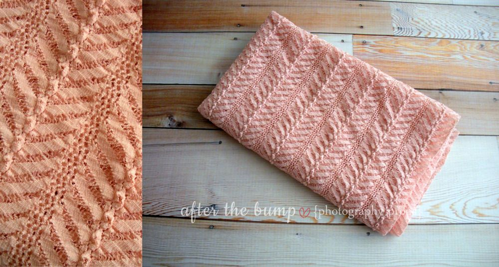 Wrap - Terra Cotta Chevron Stretch Lace by After the Bump
