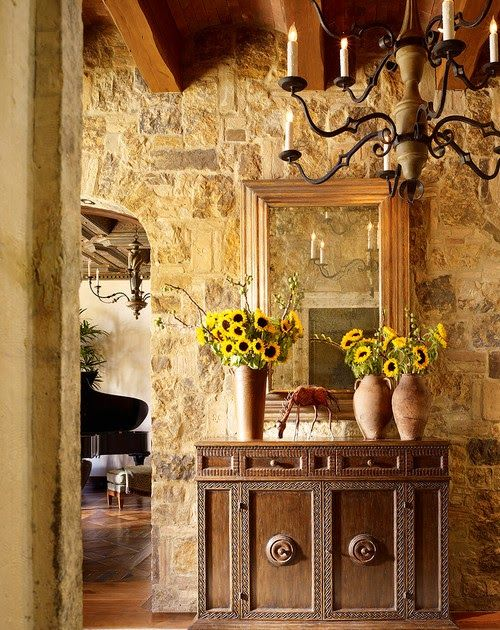 Adding rock or stone accents to an interior wall. Ideas and ...
