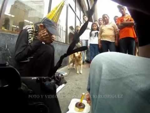"""For those who don't speak/understand spanish. This happened in Bogota, Colombia on december 17th. Her name is Andrea Chaparro and for her 47th birthday, all she wished is for """"everyone to be happy"""". This homeless beautiful woman, has no ambitious in her heart and what she finds important in life, we all give it for granted and forget to thank for it. May she celebrates tons of days like this and may we all be more conscious of people like her!"""