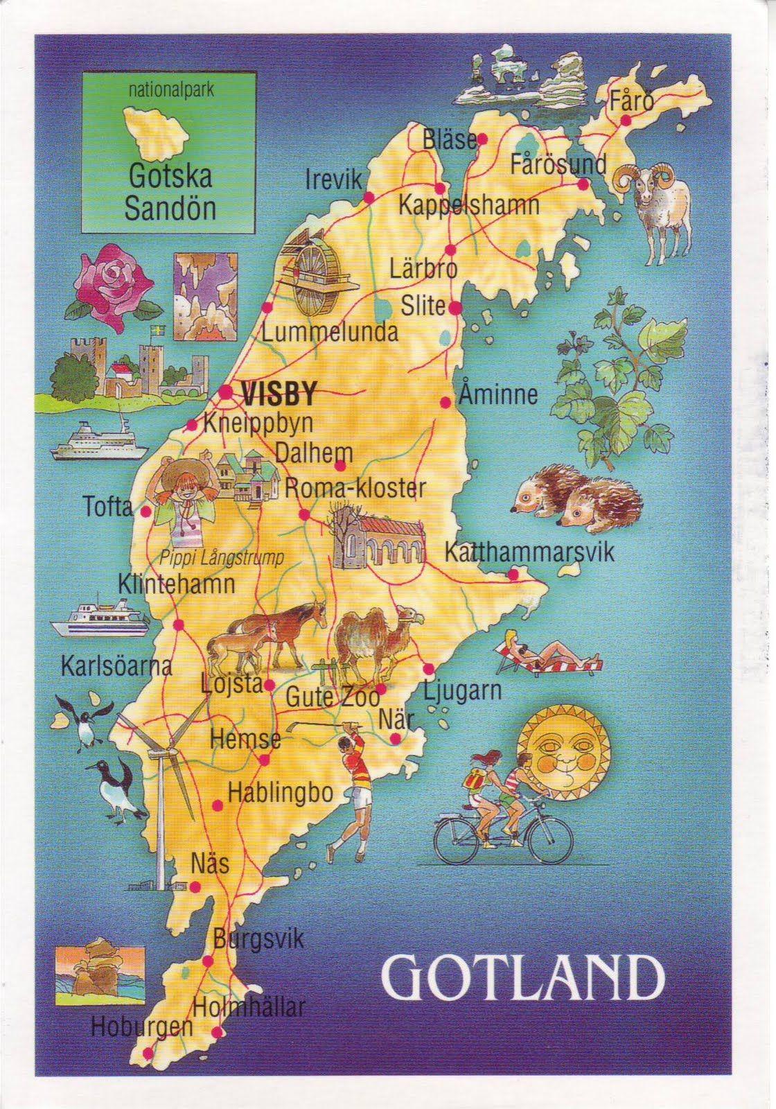 Gotland Sweden Map Bing Images Gotland Resor Sverige
