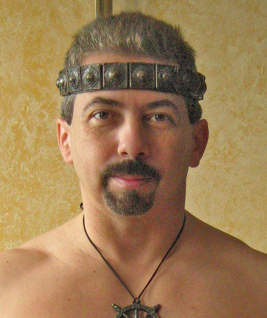 Medieval Barbarian Gladiator Leather Headband