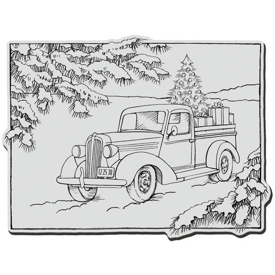 Truck Gift Cling Rubber Stamp Joann Christmas Coloring Pages Truck Coloring Pages Christmas Truck