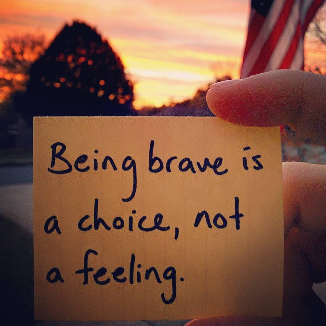 New week, new chance to be brave.