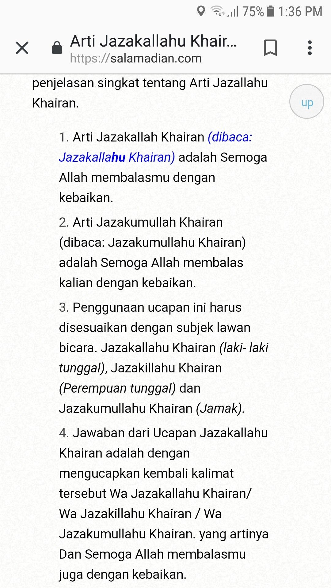 Jawaban Jazakallah Khairan Katsiran : jawaban, jazakallah, khairan, katsiran, Jawaban, Jazakillah, Khairan