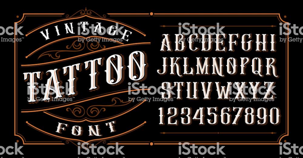 Vintage Tattoo Font Font For The Tattoo Studio Logos Alcohol In 2020 Tattoo Font Vintage Tattoo Tattoo Studio