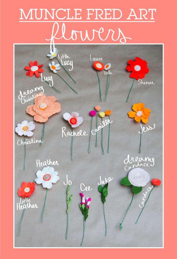Custom Wedding Wildflower Felt Bouquet - - Alternative Wedding Flowers - -. $256.00, via Etsy.