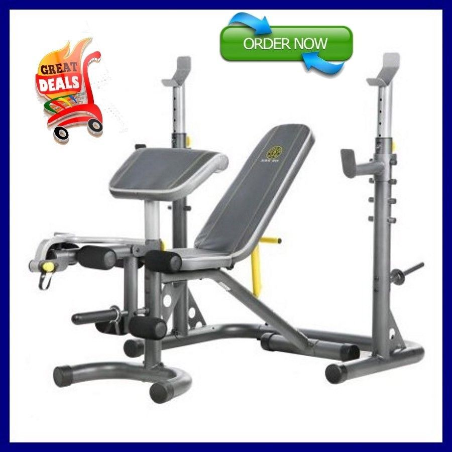 Gold S Gym Xrs 20 Olympic Utility Bench Home Gym Weight Total Body Workout Set Goldsgym Golds Gym Olympic Weights Benches For Sale