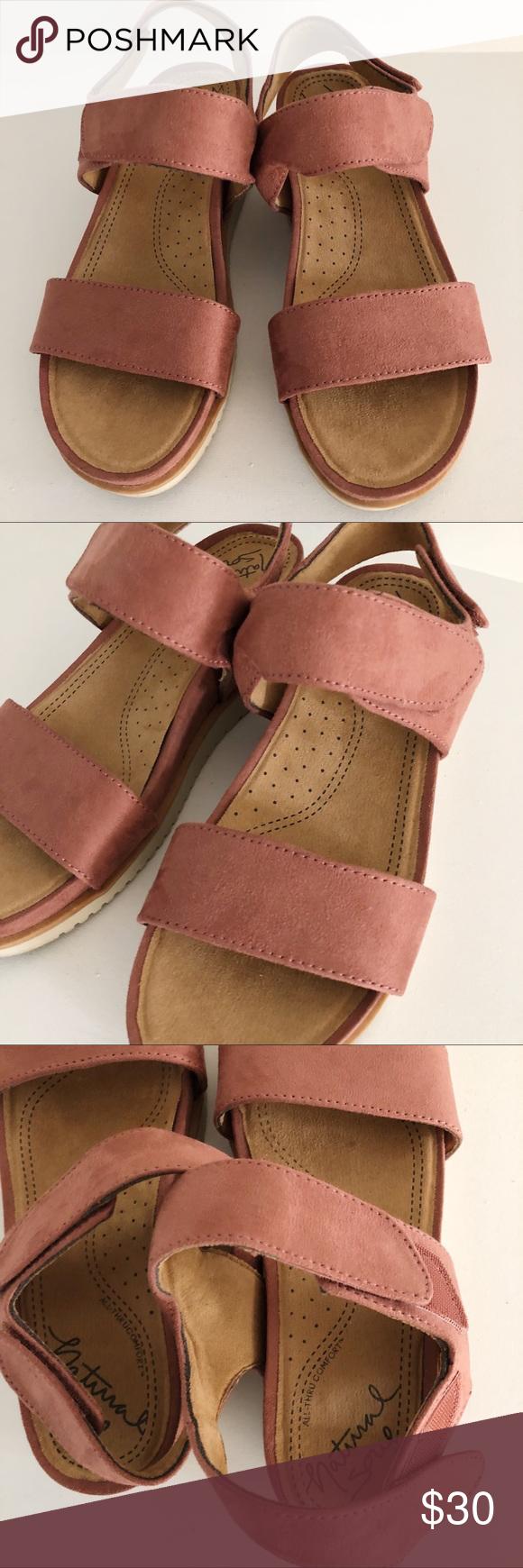 fb980aa5cdb4 Natural Soul Mauve Kaila Sandals Natural Soul Kaila sandals with mauve  color suede straps - 2
