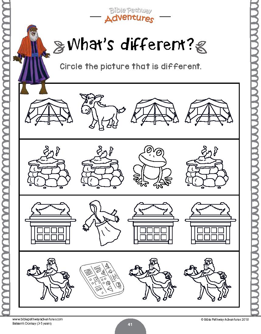 Balaam S Donkey Activity Book Beginners Book Activities Kindergarten Math Activities Bible Lessons [ 1100 x 859 Pixel ]