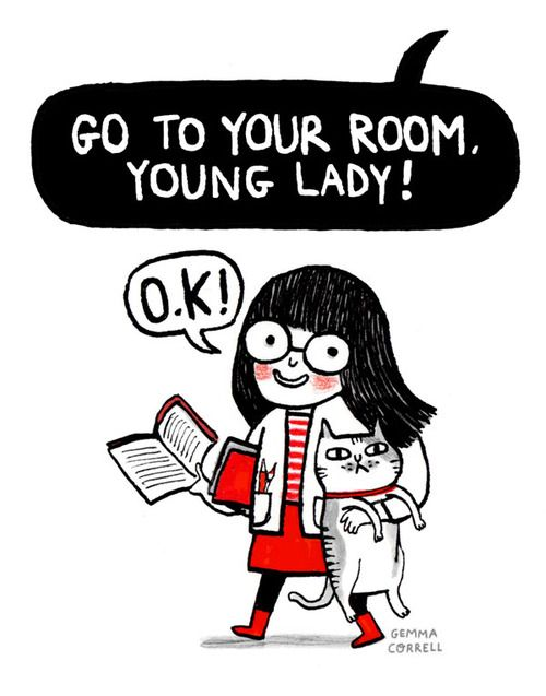 young lady i love books