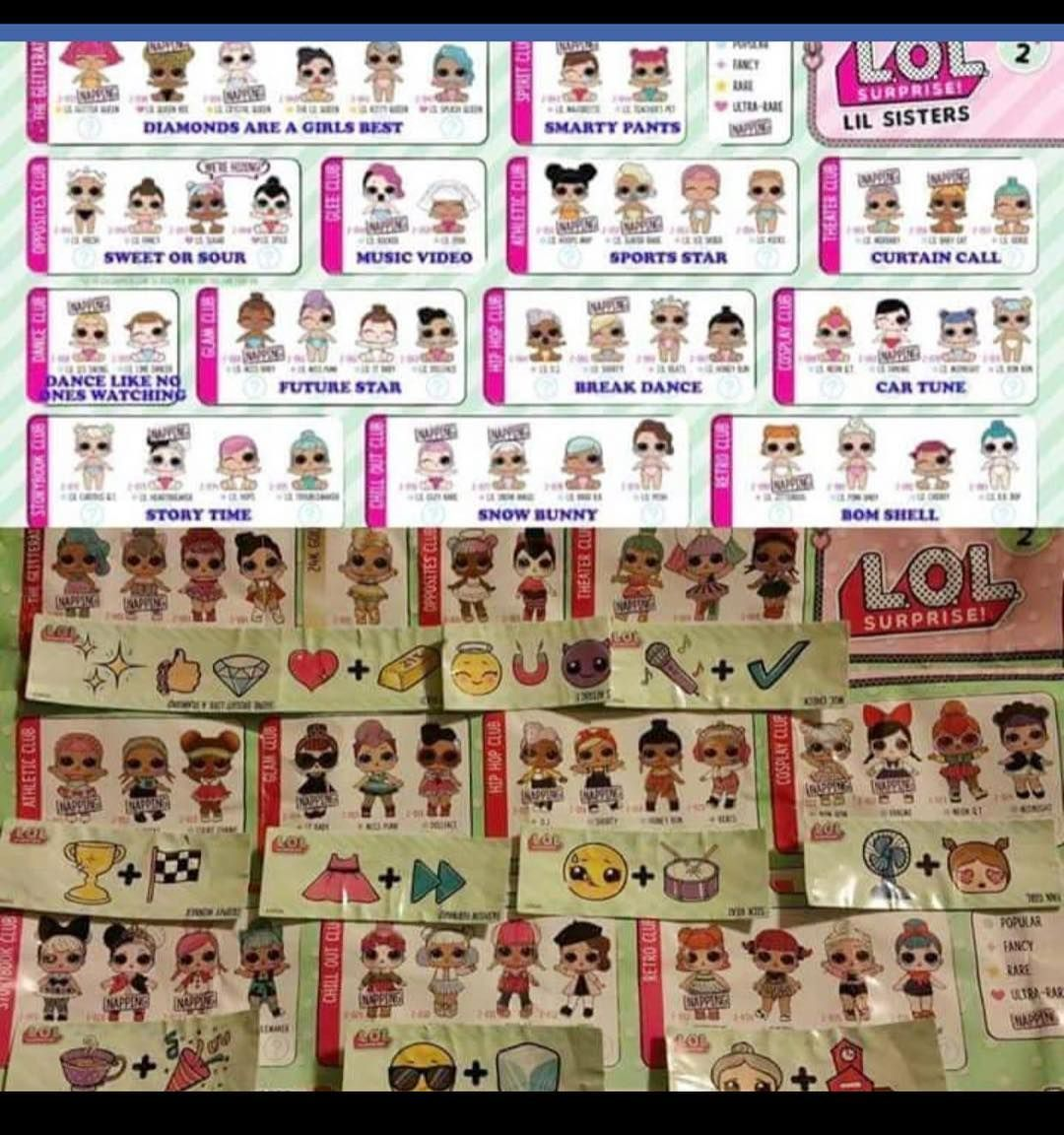Lol Surprise Series 2 Bigs And Littles With Their Matching Clues Not My Picture Lolsurprise Lolsurprisedolls Series2 Clues T Lol Dolls Lol My Pictures