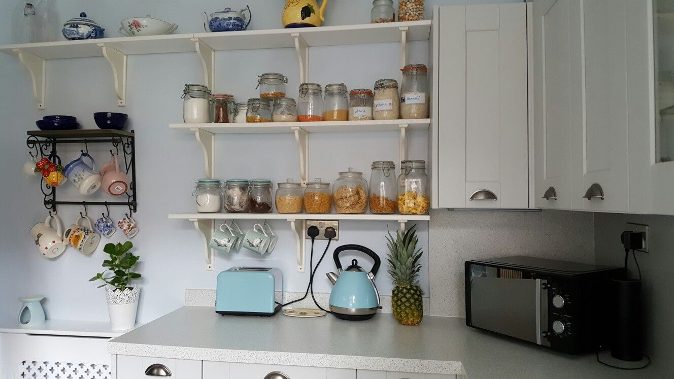 pin by christine johnson on open shelving with images quirky kitchen kitchen remodel small on kitchen ideas quirky id=52824