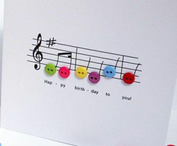 Geburtstagskarte musik basteln