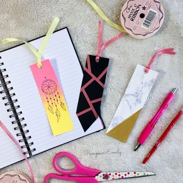 3 Easy Diy Bookmark Ideas Handmade Bookmarks Diy Bookmarks Handmade Bookmark Craft