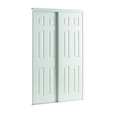 Veranda 60 Inch White Framed 6 Panel Sliding Door Hd06080ma22 Home Depot Canada Bedroom