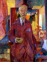 "EMILIO CENTURIÓN (1894-1970) - ""Retrato de Bonnard"". Óleo sobre cartón. 1950"