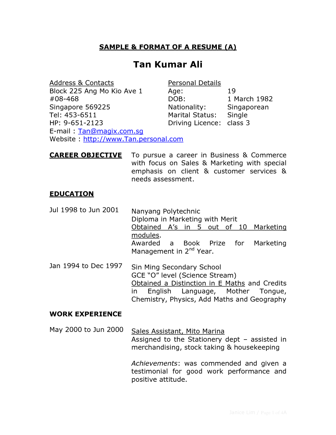 Full Block Resume Format Business Letter Examples Resumes Free