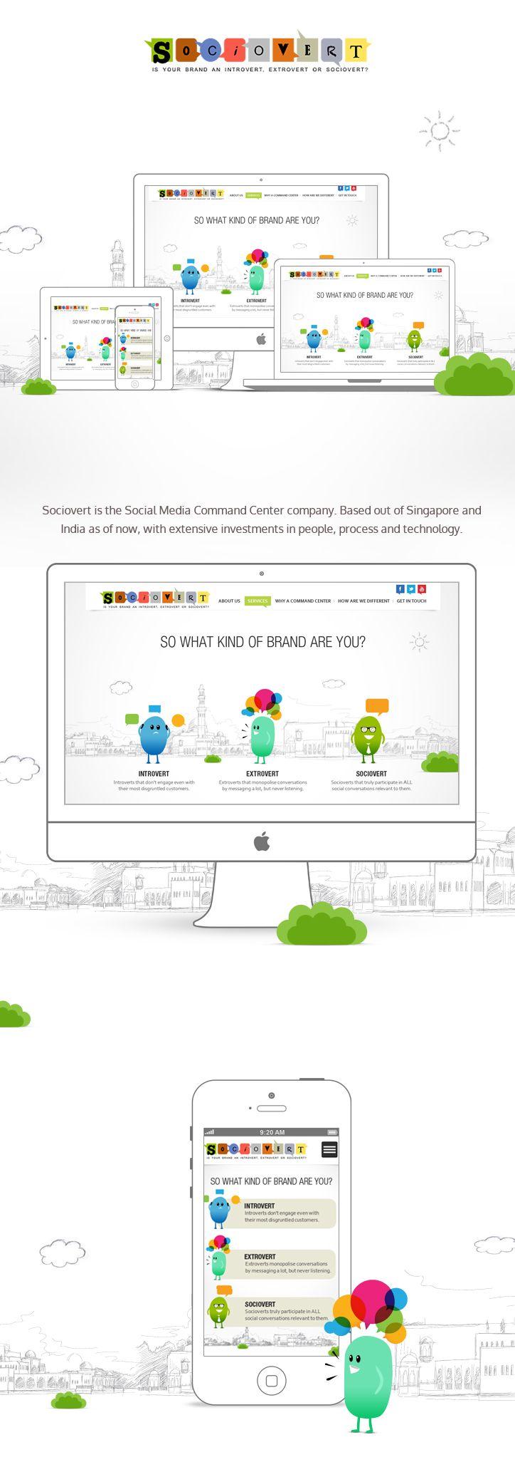 Socivert website design