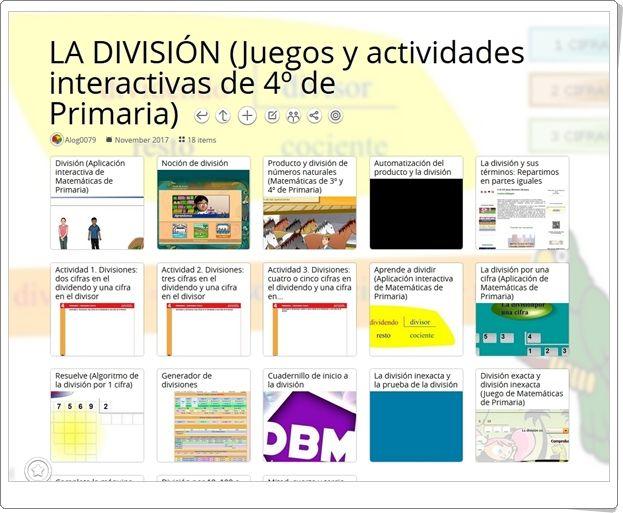 22 Actividades Interactivas Para El Aprendizaje De La División En 4º De Primaria Actividades Interactivas Divisiones Primaria Actividades