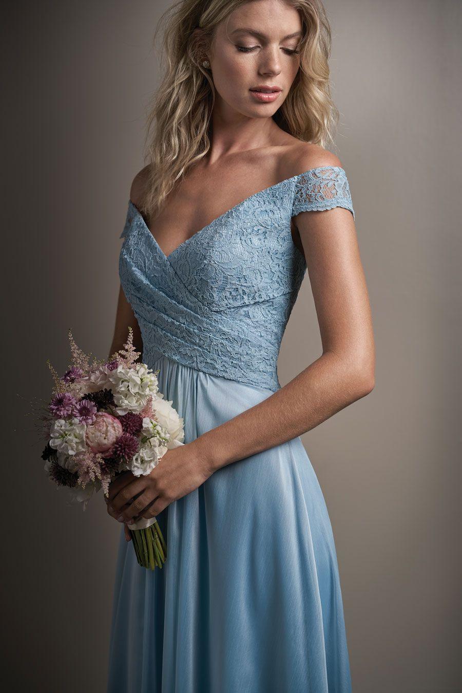 63 beautiful blue bridesmaids dresses gallery image 26