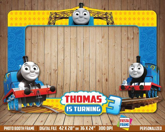 Thomas And Friends Photo Booth Frame Birthday Birthd