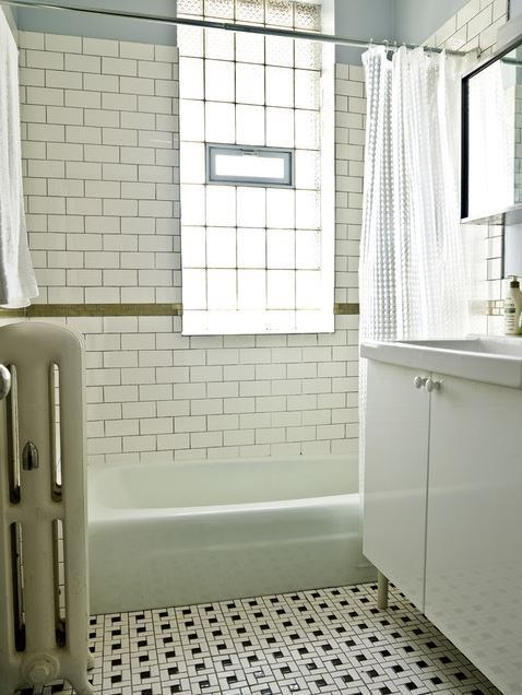 Attrayant Subway Tile And Vintage Floor Tile