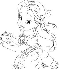 Dibujos Para Colorear Princesas Bebes