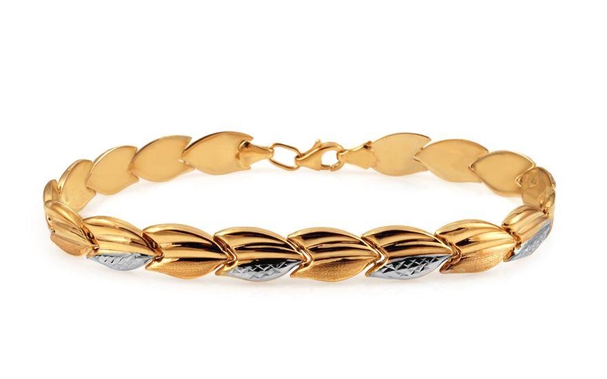 Zlatý dámsky dvojfarebný náramok  e2fabac07a7