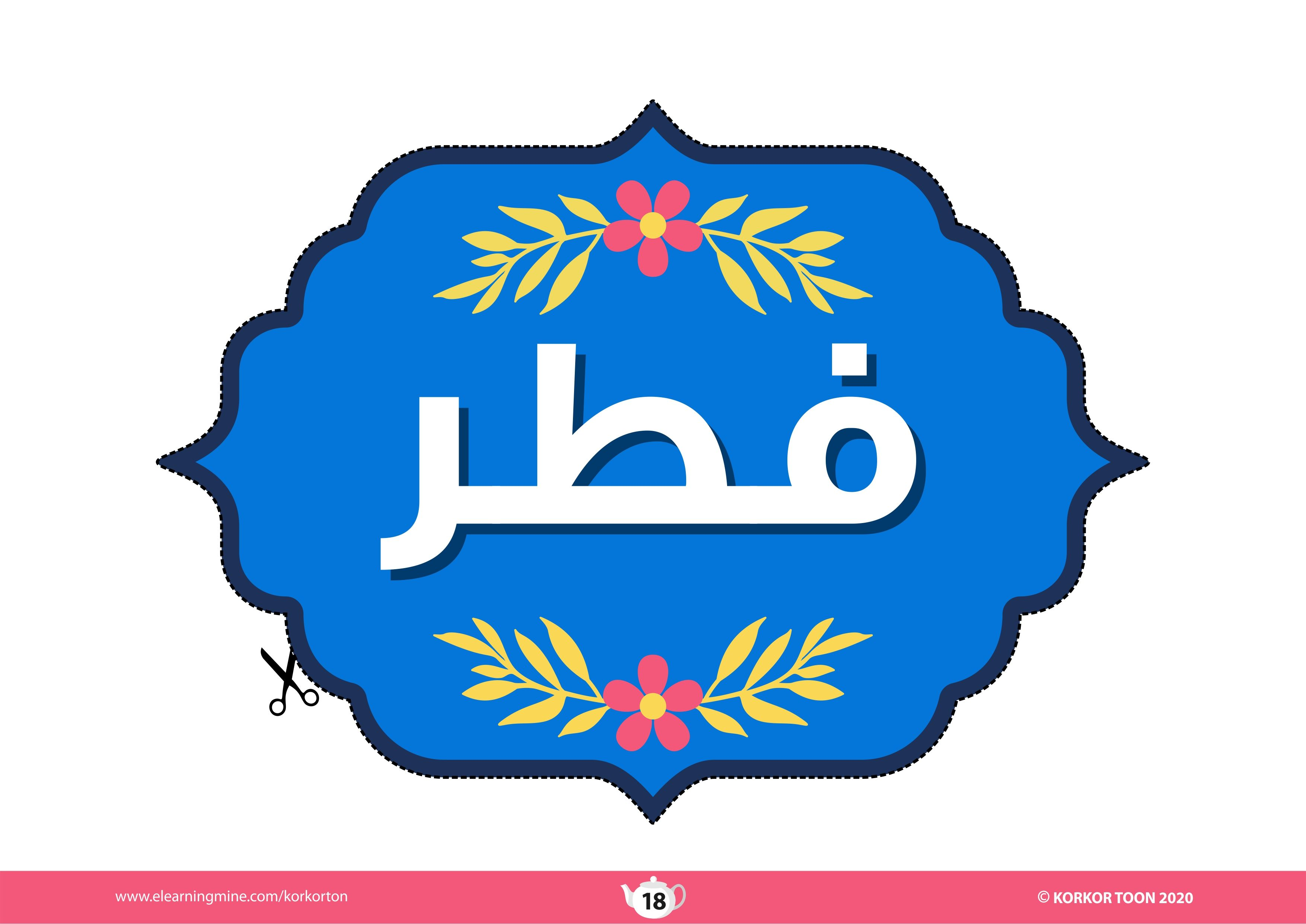 Printable Eid Decoration زينة العيد للطباعة Eid Decoration Eid Gifts Decor