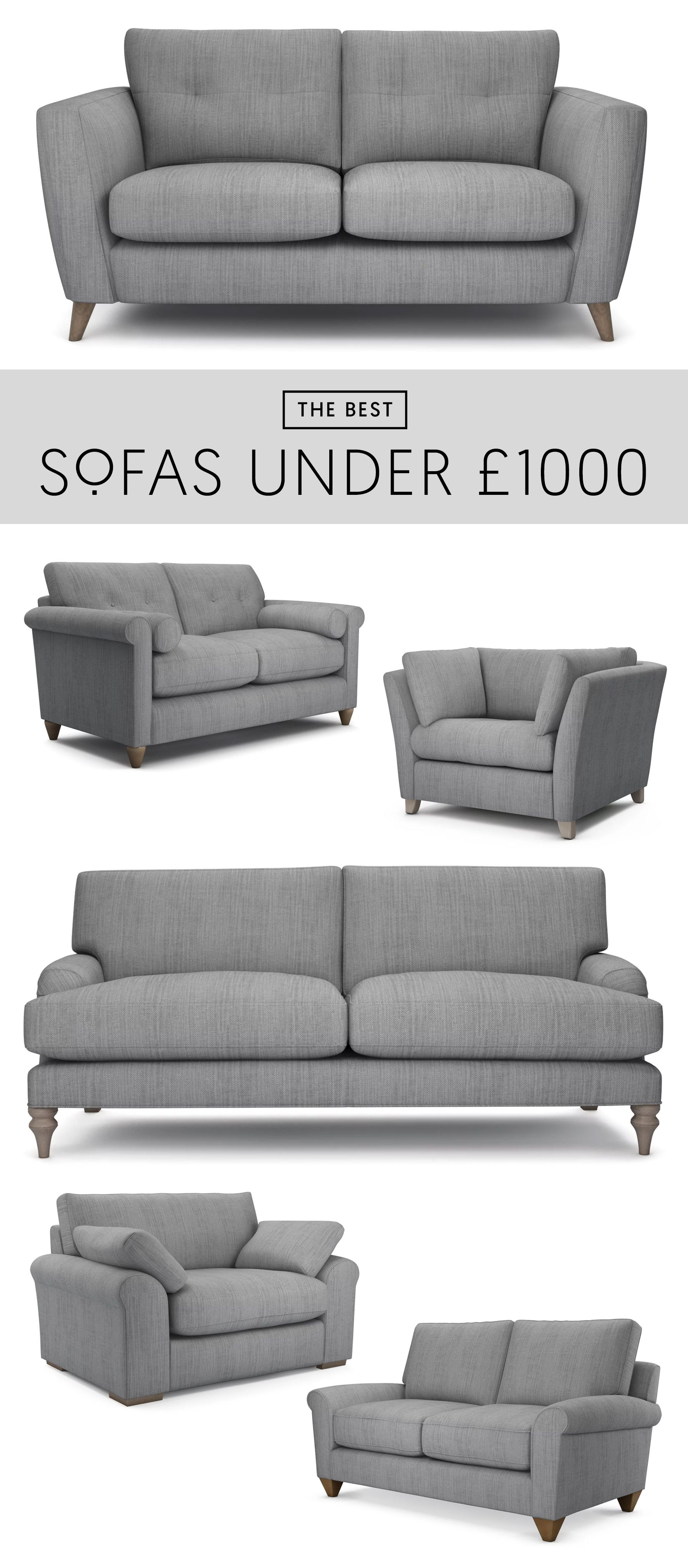 The Best 6 Sofas Under £1000 | Stylish, British-Made Sofas. Quality ...