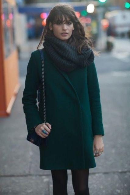 4fcaef6fc Emerald Coats For A Christmas Mood | Fashion | Fashion, Green ...