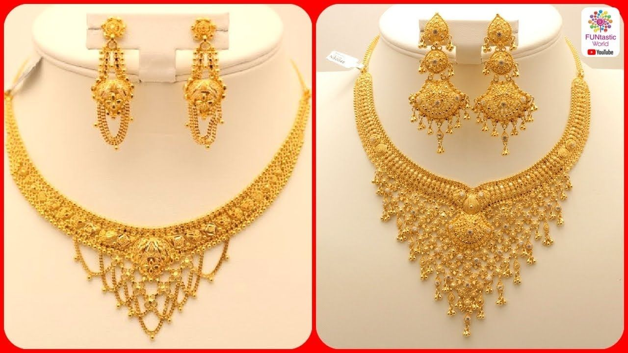 Latest Gold Necklace Designs Gold Necklace Sets For Brides Price