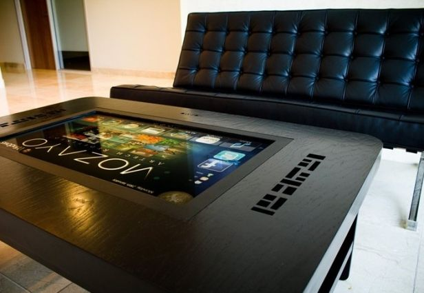 Control your digital coffee table from the couch with Bluetooth enabled Mozayo M42 & M32