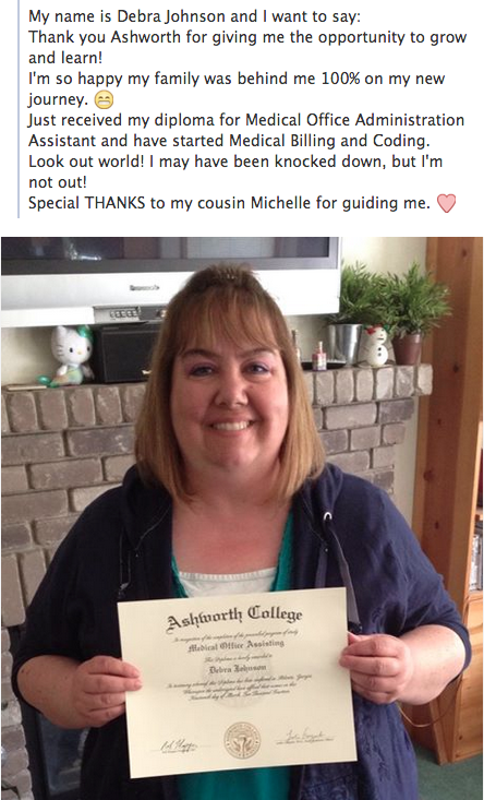 Wed Like To Congratulate And Thank Debra For Sharing Her Ashworth