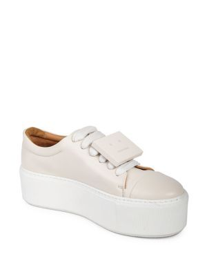 97cb6cfd28 ACNE STUDIOS Drihanna Nappa Leather Platform Sneakers. #acnestudios #shoes #