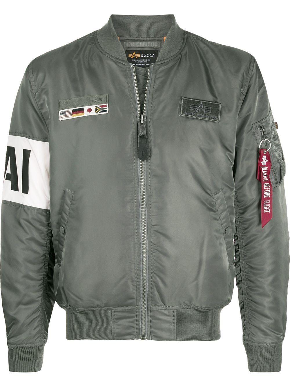 Alpha Industries MA-1 Air Force slogan jacket - Green