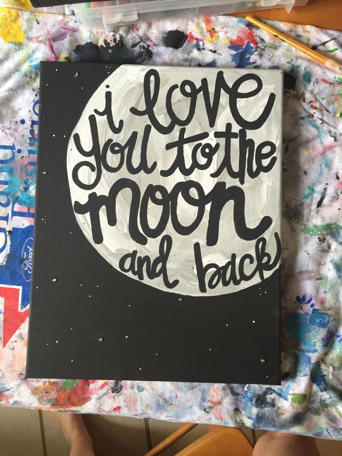 I Love You Canvas Painting By Findingsmiles On Etsy Https Www