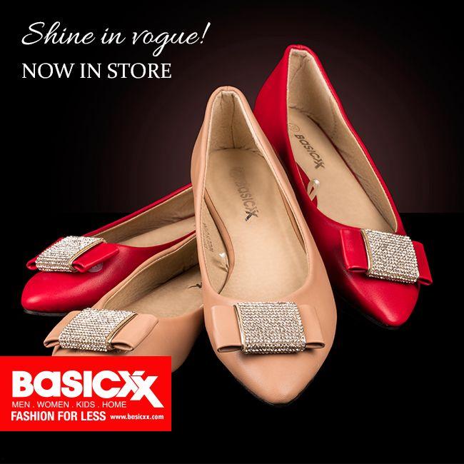 Shine In Vogue Basicxx New Collection Now In Stores Basicxxfashion Basicxx Fashion Style Shop Ksa Riyadh Jedda Vogue Fashion Salvatore Ferragamo Flats