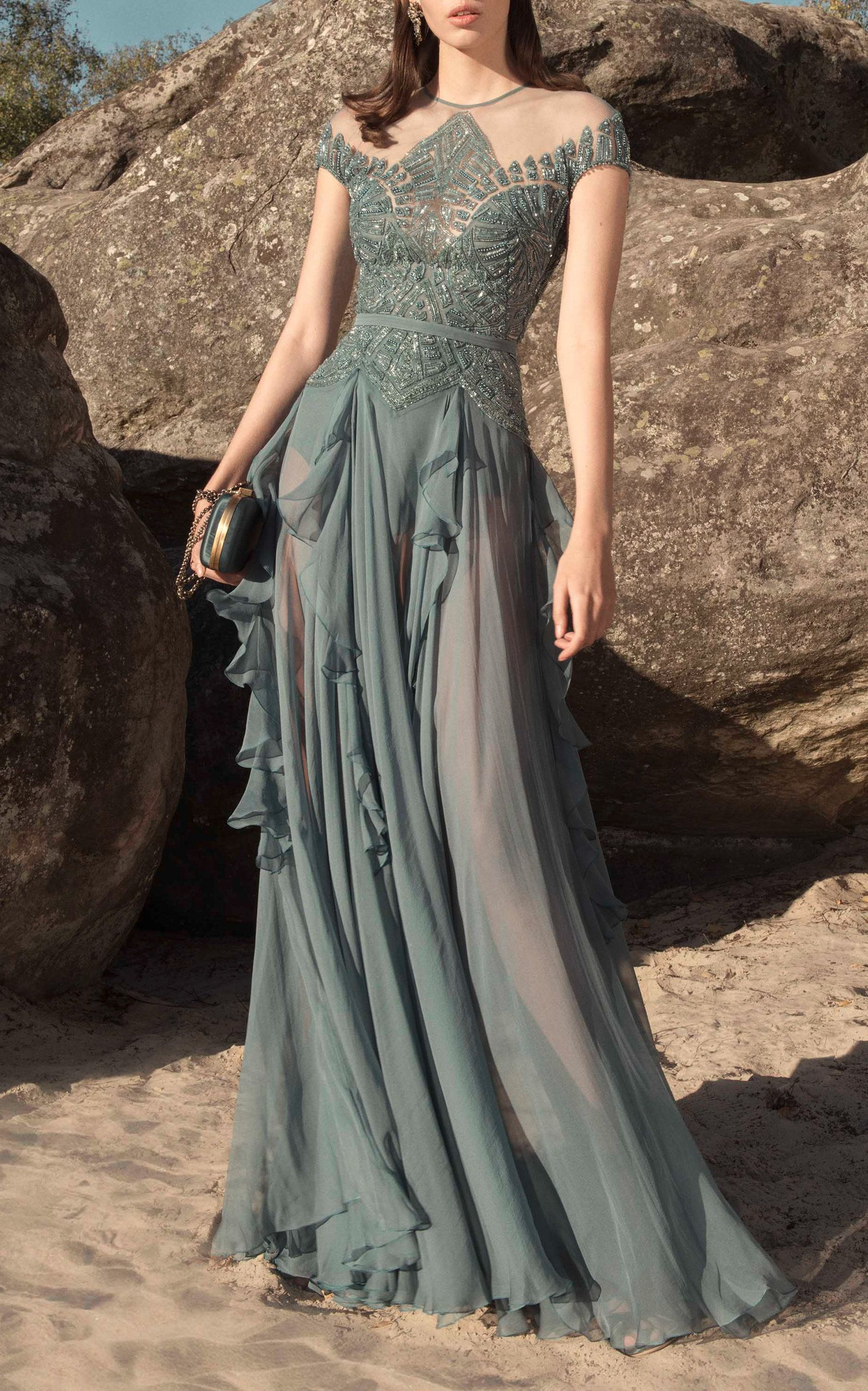 Embroidered silk dress in costumes fashion pinterest
