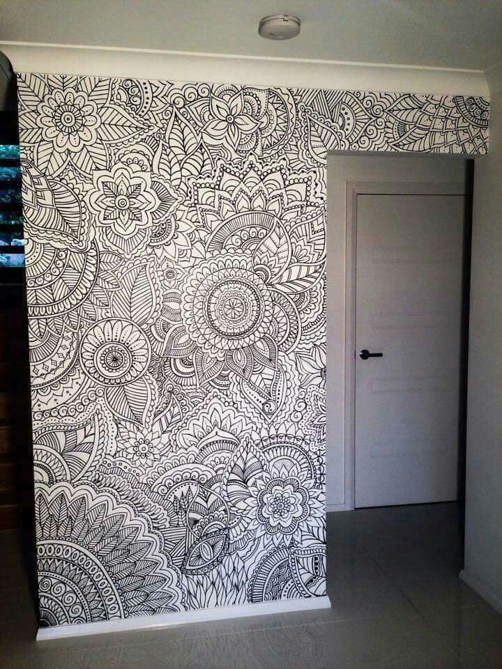 Mandalas en pared Dormitorios recámaras Pinterest Mandalas en