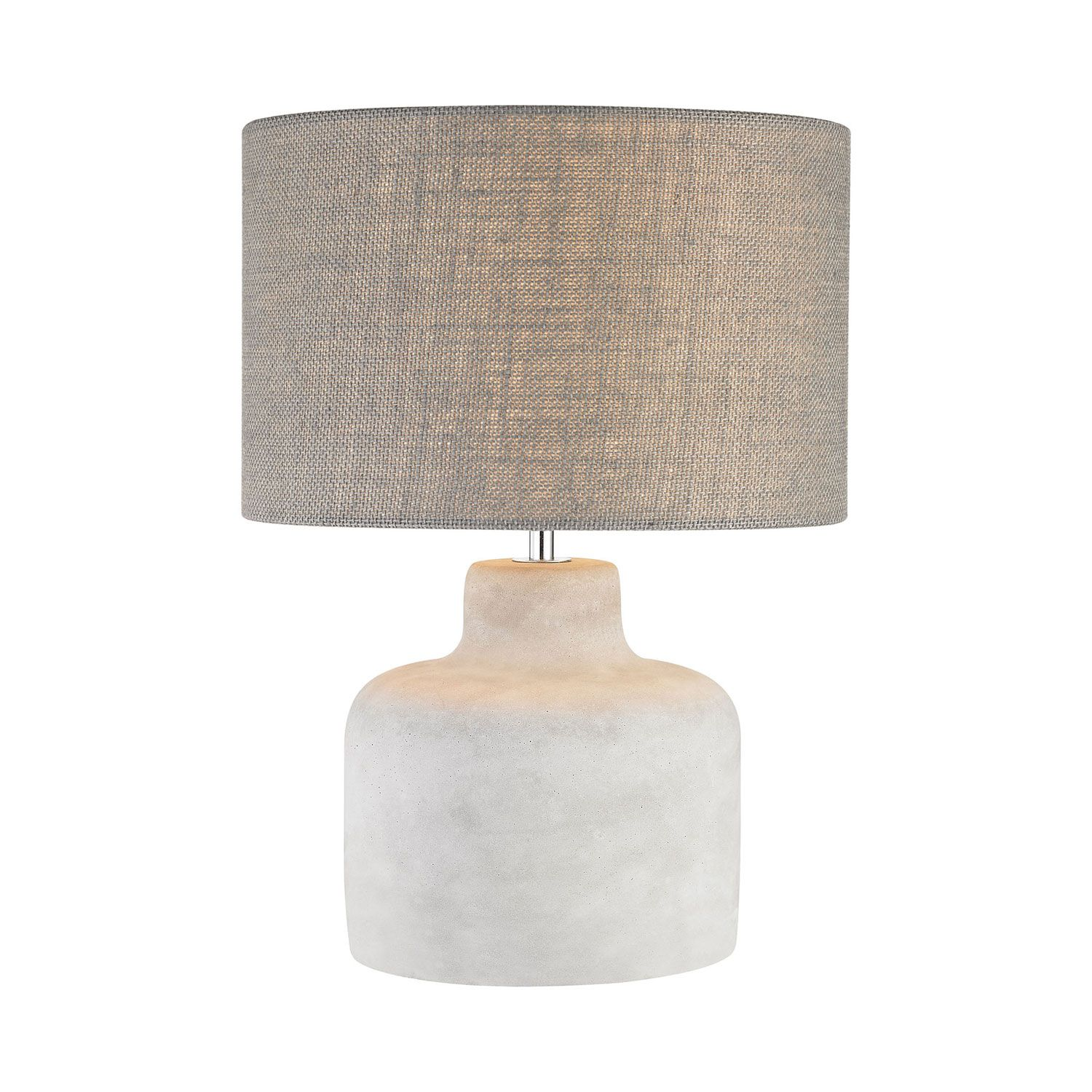 Dimond Rockport Polished Concrete One Light 12 Inch Table Lamp