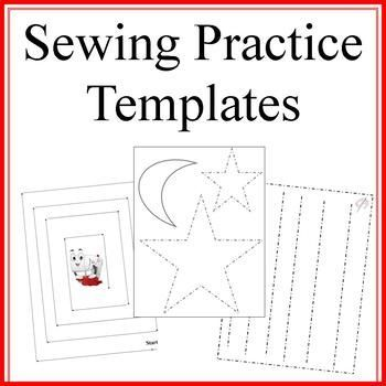 sewing practice templates artistic techniques and tools montessori sewing basics sewing. Black Bedroom Furniture Sets. Home Design Ideas