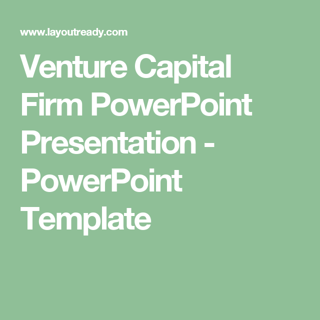 Venture Capital Firm PowerPoint Presentation PowerPoint Template - Venture capital presentation template