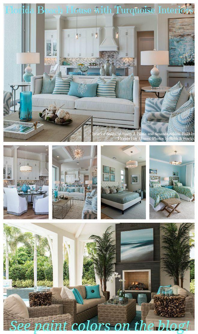 New Interior Design Ideas And Paint Colors For Your Home   Beach Cottage  Style   Pinterest   Türkis Deko, Gemütlichkeit Und Türkis