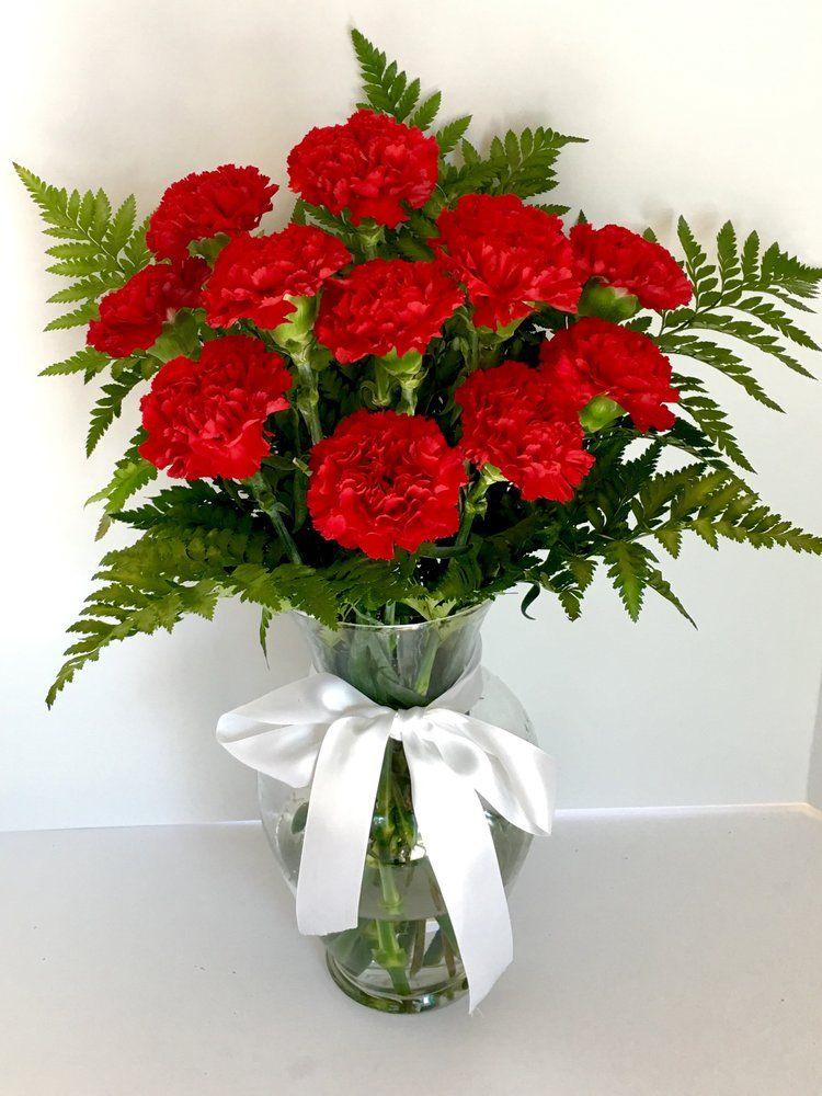 Red carnation flower arrangement