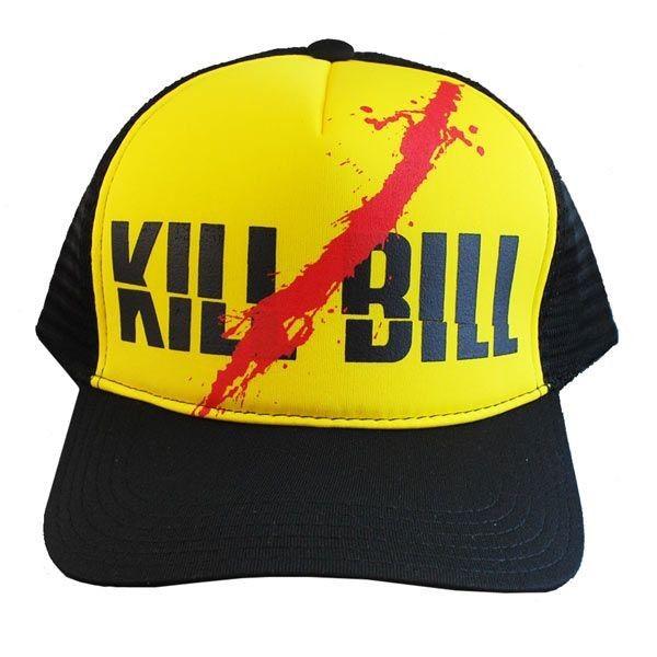 Boné - Trucker - Kill Bill (Preto e Amarelo)
