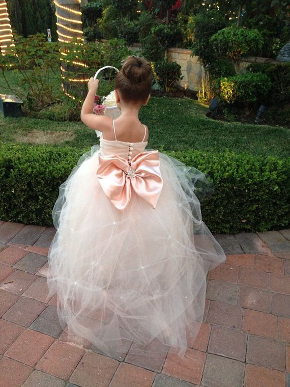 7f6d5a3fe8c Flower Girl Dress - Lace Dress - Girls Lace Dress - Big Bow Dress - CAPRI  DRESS - (FULL) Wedding Dress by Isabella Couture