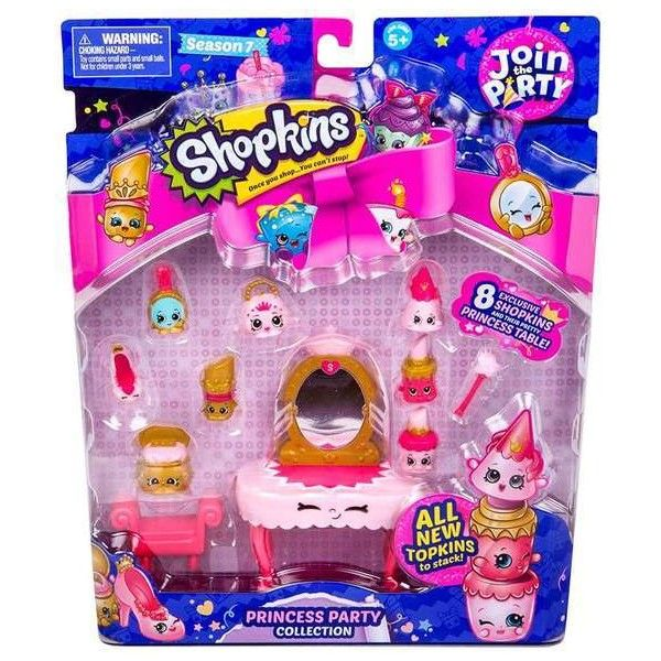 Shopkins Season 7 Join the Party Princess Party Mini Figure 9-Pack ($17) ❤ liked on Polyvore featuring home and kitchen & dining