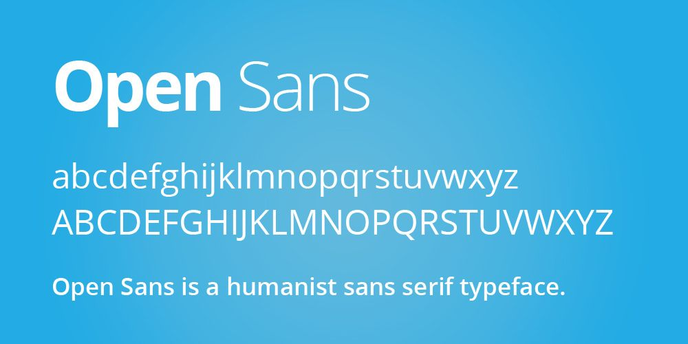 Open Sans - Google Web Fonts | Fonts | Free web design