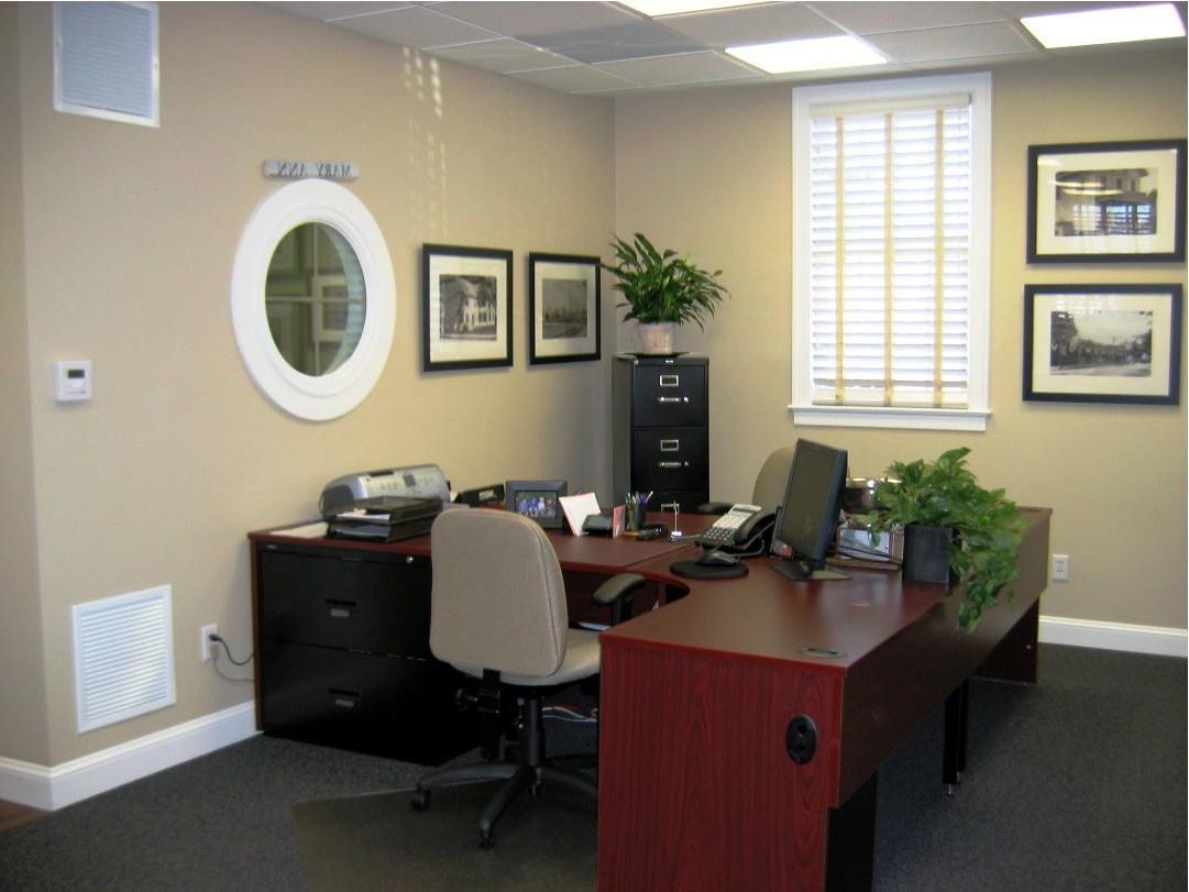 Office decor ideas for work home designs professional for Decorated office